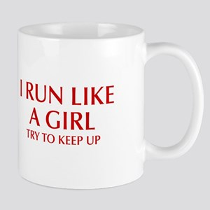 I-run-like-a-girl-OPT Mugs