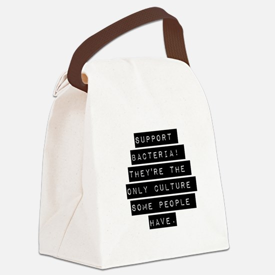 Support Bacteria Canvas Lunch Bag