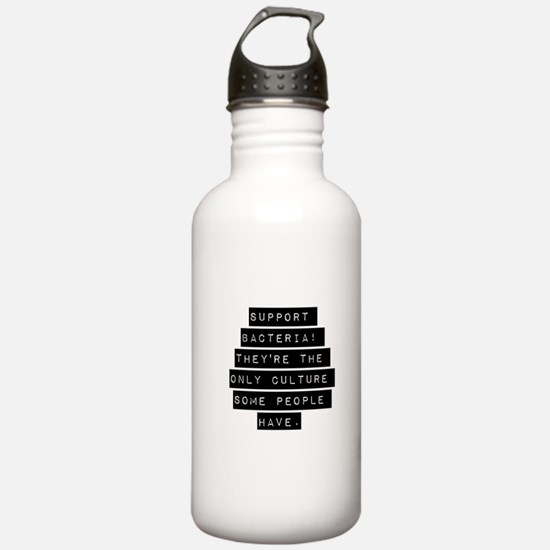 Support Bacteria Water Bottle