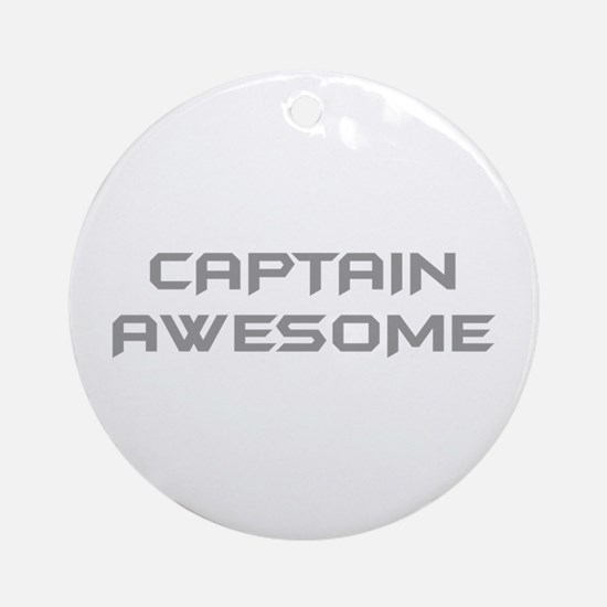 captain-awesome-BAT-GRAY Ornament (Round)