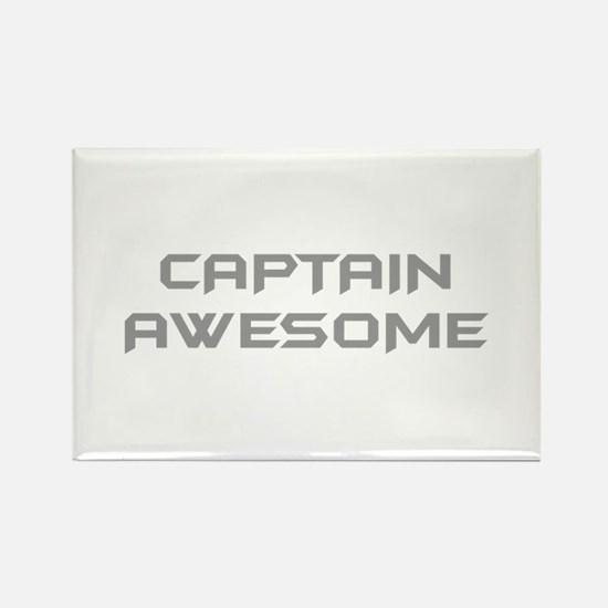 captain-awesome-BAT-GRAY Magnets
