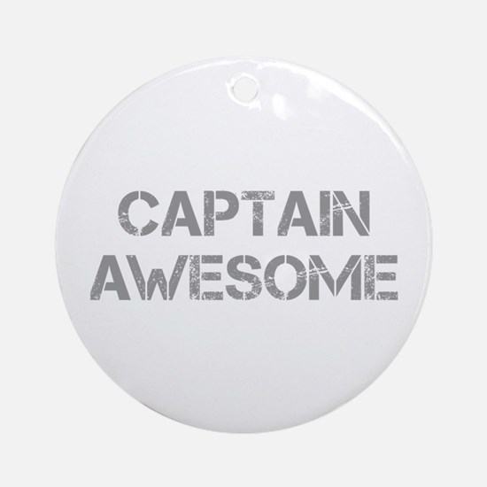 captain-awesome-CAP-GRAY Ornament (Round)