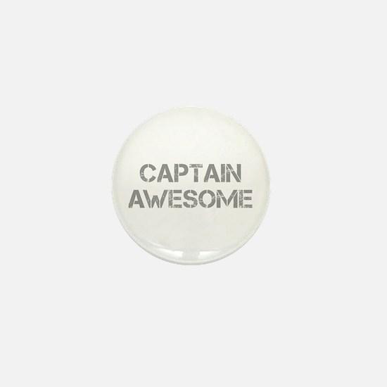 captain-awesome-CAP-GRAY Mini Button