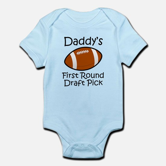 Daddys First Round Draft Pick Body Suit