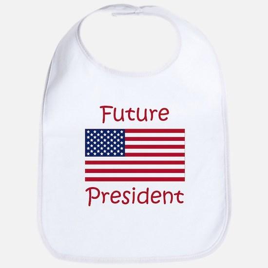Future President USA Flag Bib