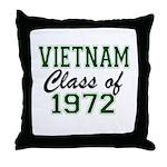 Vietnam Class of 1972 Throw Pillow