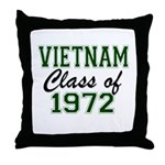 Vietnam Class of 1972 Throw Pillow