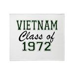 Vietnam Class of 1972 Throw Blanket