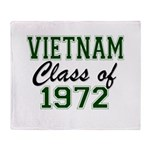 Vietnam Class of 1972 Throw Blanket