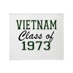 Vietnam Class of 1973 Throw Blanket