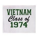 Vietnam Class of 1974 Throw Blanket