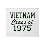 Vietnam Class of 1975 Throw Blanket