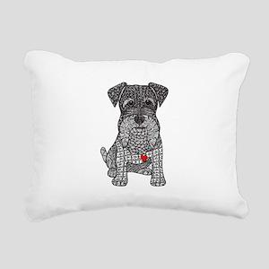 Spunk - Schnauzer Rectangular Canvas Pillow