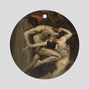 Dante and Virgil in Hell Round Ornament