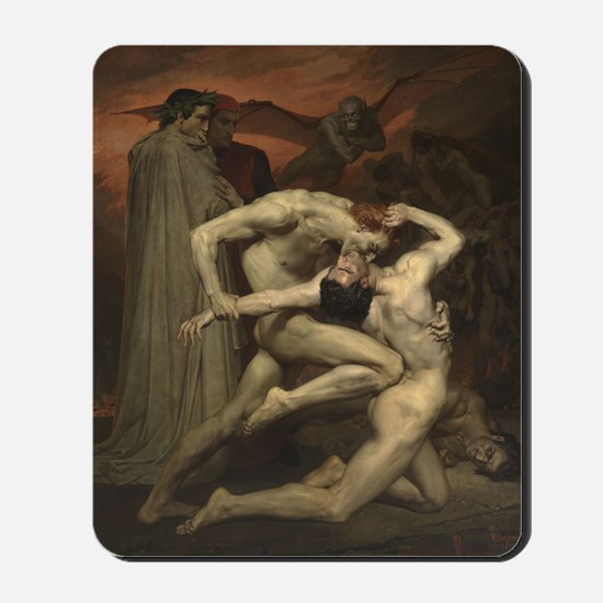 Dante and Virgil in Hell Mousepad