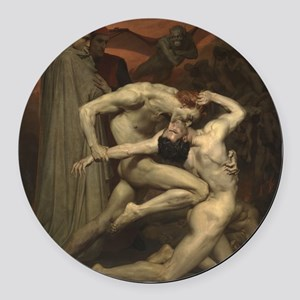 Dante and Virgil in Hell Round Car Magnet