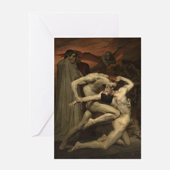 Dante and Virgil in Hell Greeting Card