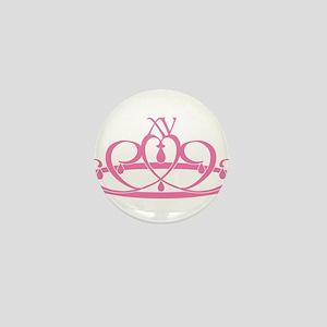 Quince Anos XV Tiara Mini Button