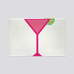 Pink Cocktail With Lime Magnets