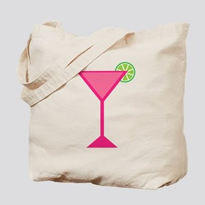 Pink Cocktail With Lime Tote Bag