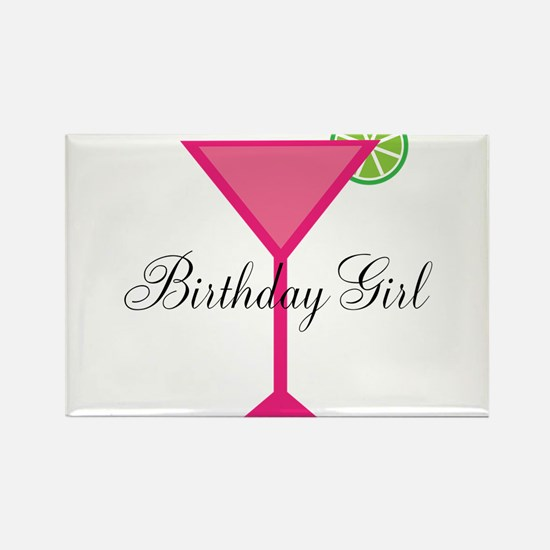Birthday Girl Pink Cocktail Magnets