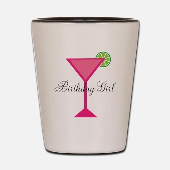 Birthday Girl Pink Cocktail Shot Glass