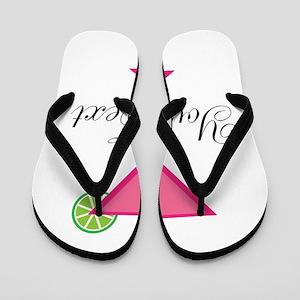 Personalizable Pink Cocktail Flip Flops
