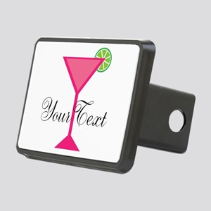 Personalizable Pink Cocktail Hitch Cover