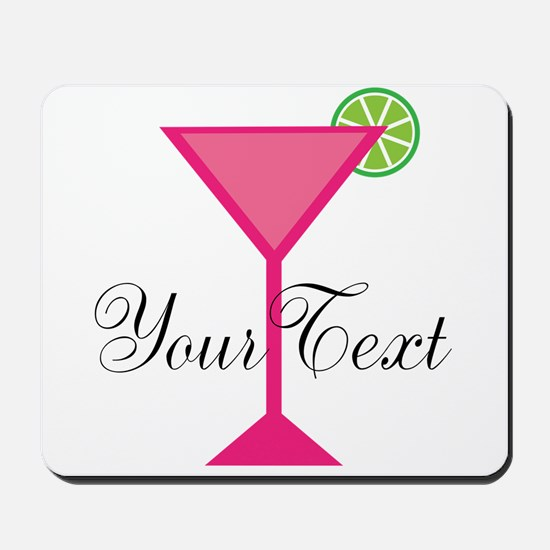 Personalizable Pink Cocktail Mousepad