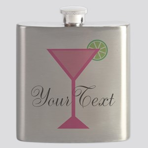 Personalizable Pink Cocktail Flask