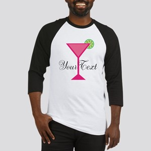 Personalizable Pink Cocktail Baseball Jersey