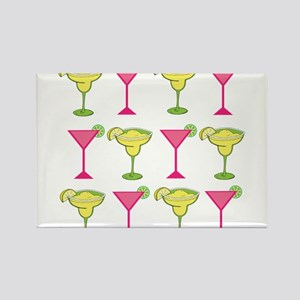 Pink and Green Cocktails Magnets