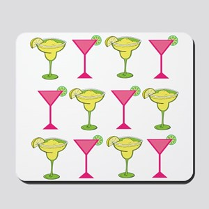 Pink and Green Cocktails Mousepad