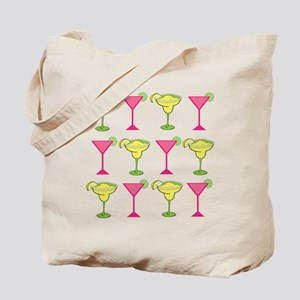Pink and Green Cocktails Tote Bag