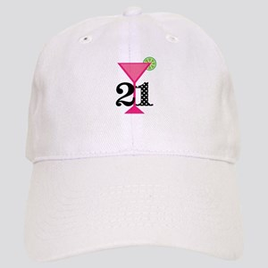21st Birthday Pink Cocktail Baseball Cap