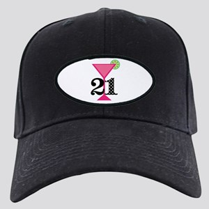 21st Birthday Pink Cocktail Baseball Hat