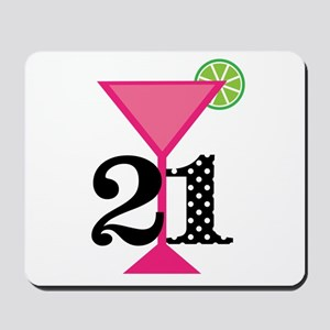 21st Birthday Pink Cocktail Mousepad