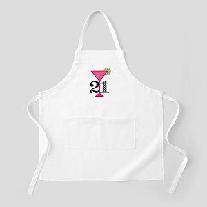 21st Birthday Pink Cocktail Apron