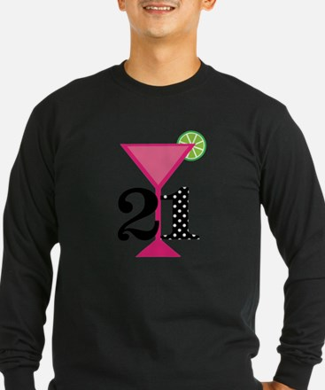 21st Birthday Pink Cocktail Long Sleeve T-Shirt