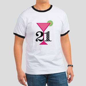 21st Birthday Pink Cocktail T-Shirt