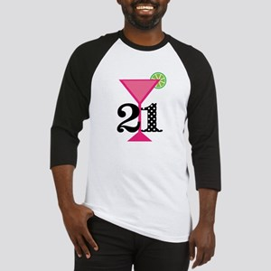 21st Birthday Pink Cocktail Baseball Jersey