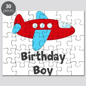 Birthday Boy Red and Blue Plane Puzzle