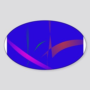 Simple Blue Abstract with Slashing Colors Sticker