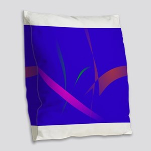 Simple Blue Abstract with Slashing Colors Burlap T