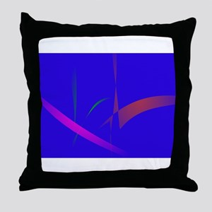 Simple Blue Abstract with Slashing Colors Throw Pi