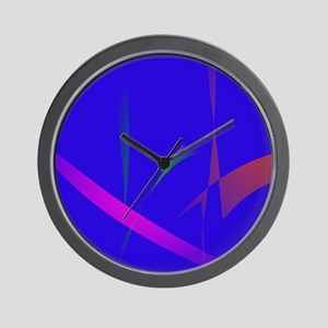 Simple Blue Abstract with Slashing Colors Wall Clo