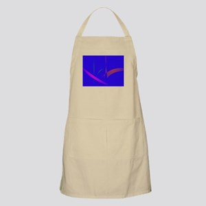 Simple Blue Abstract with Slashing Colors Apron