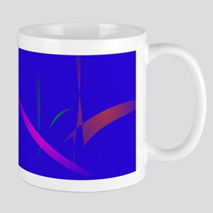 Simple Blue Abstract with Slashing Colors Mugs