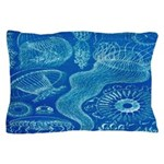 Vintage Jellyfish Nautical Pillow Case