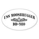 USS MOOSBRUGGER Sticker (Oval)